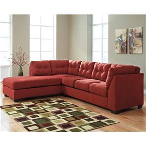 Ashley/Benchcraft Maier - Sienna 2-Piece Sectional w/ Sleeper Sofa & Ch