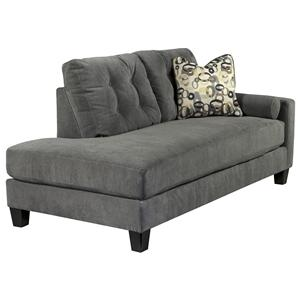 Ashley/Benchcraft Mallbern - Charcoal Right Arm Facing Corner Chaise