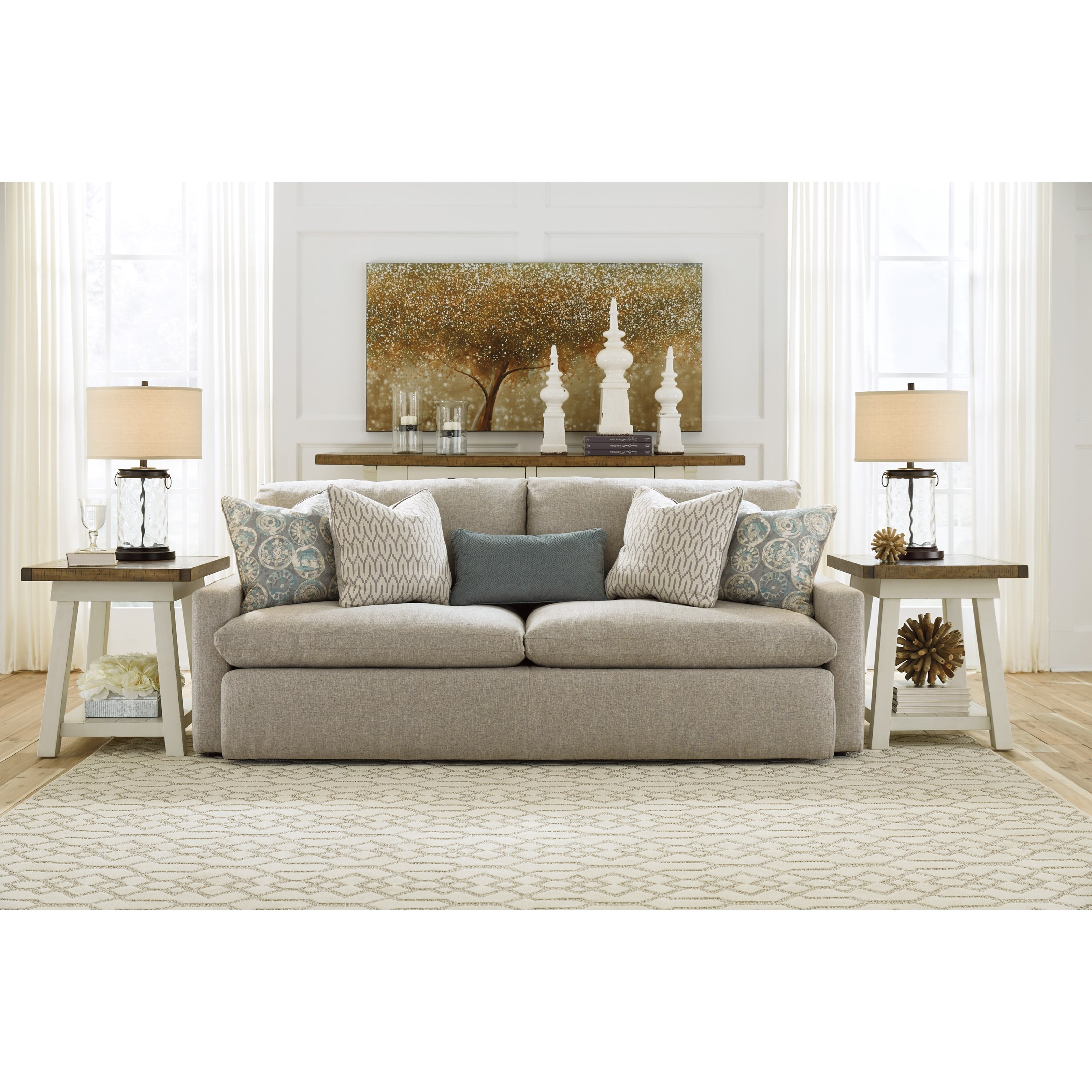 Pit Sectional Sofa With 2 Accent Ottomans