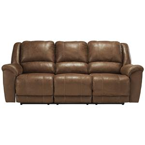 Contemporary Faux Leather Reclining Sofa
