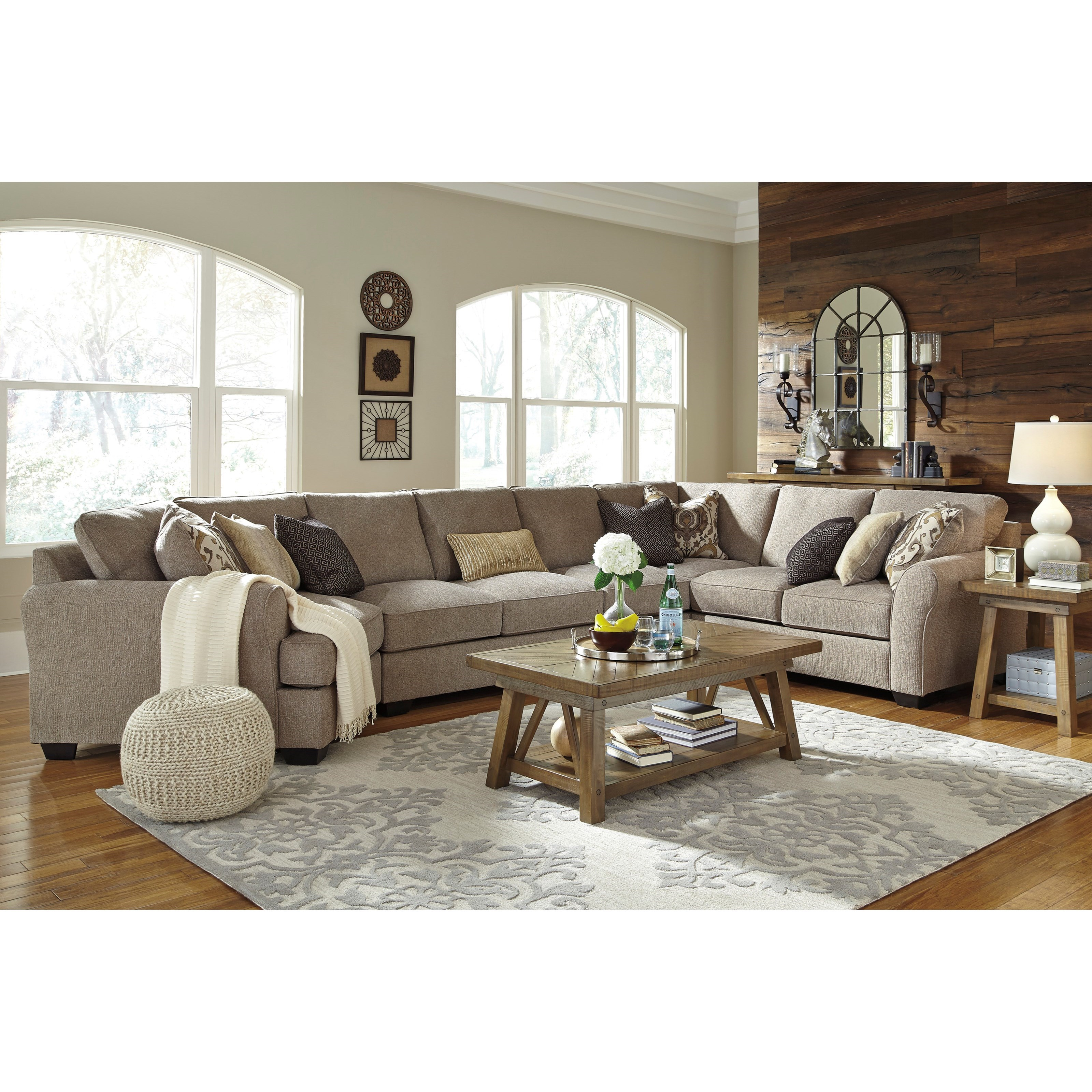 4 Piece Sectional with Left Cuddler & Armless Sofa by Benchcraft