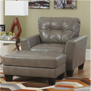 Benchcraft Paulie DuraBlend® - Quarry Chair and Ottoman Set
