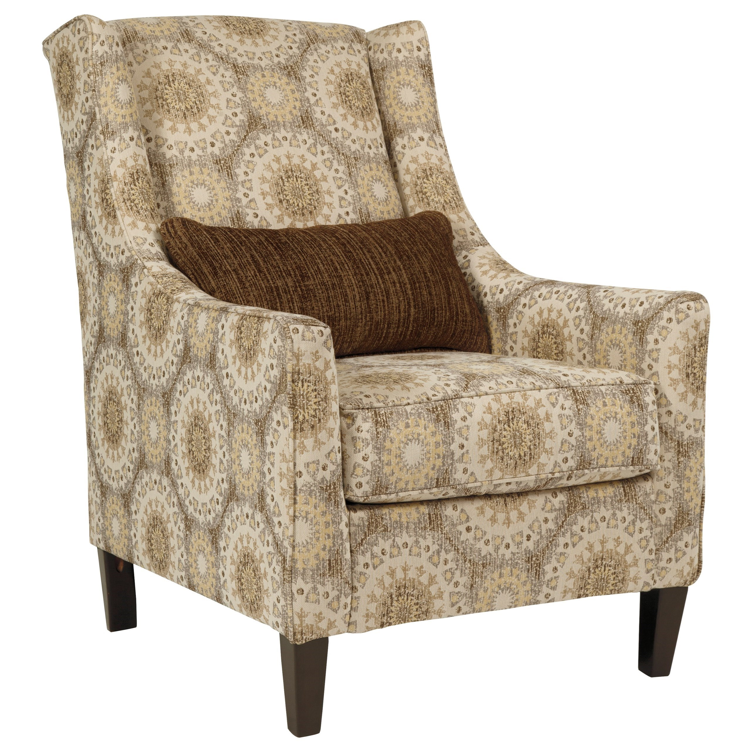 Patterned Wingback Chair Amazing Decorating Design