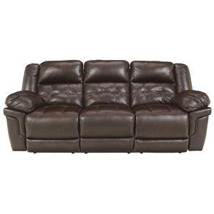 Benchcraft Randon - Mahogany Reclining Power Sofa