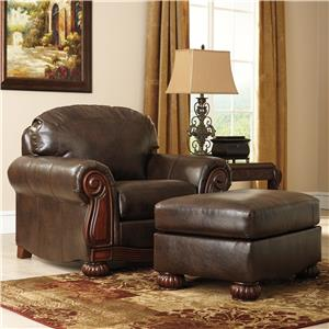 Ashley/Benchcraft Rodlann DuraBlend® Chair & Ottoman