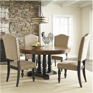 Benchcraft Shardinelle 5-Piece Round Dining Room Table Set