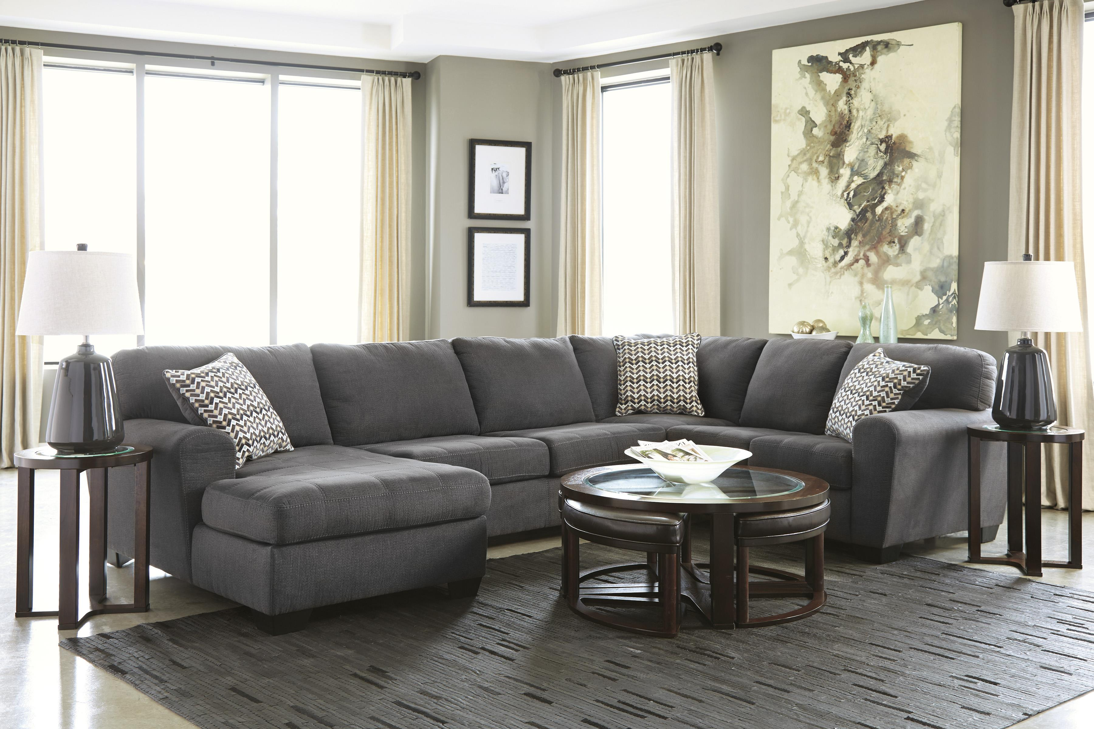 Contemporary 3 Piece Sectional With Left Chaise By Benchcraft Wolf And Gardiner Wolf Furniture