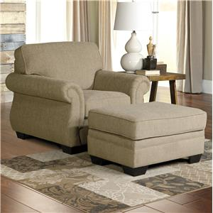 Transitional Chair & Ottoman
