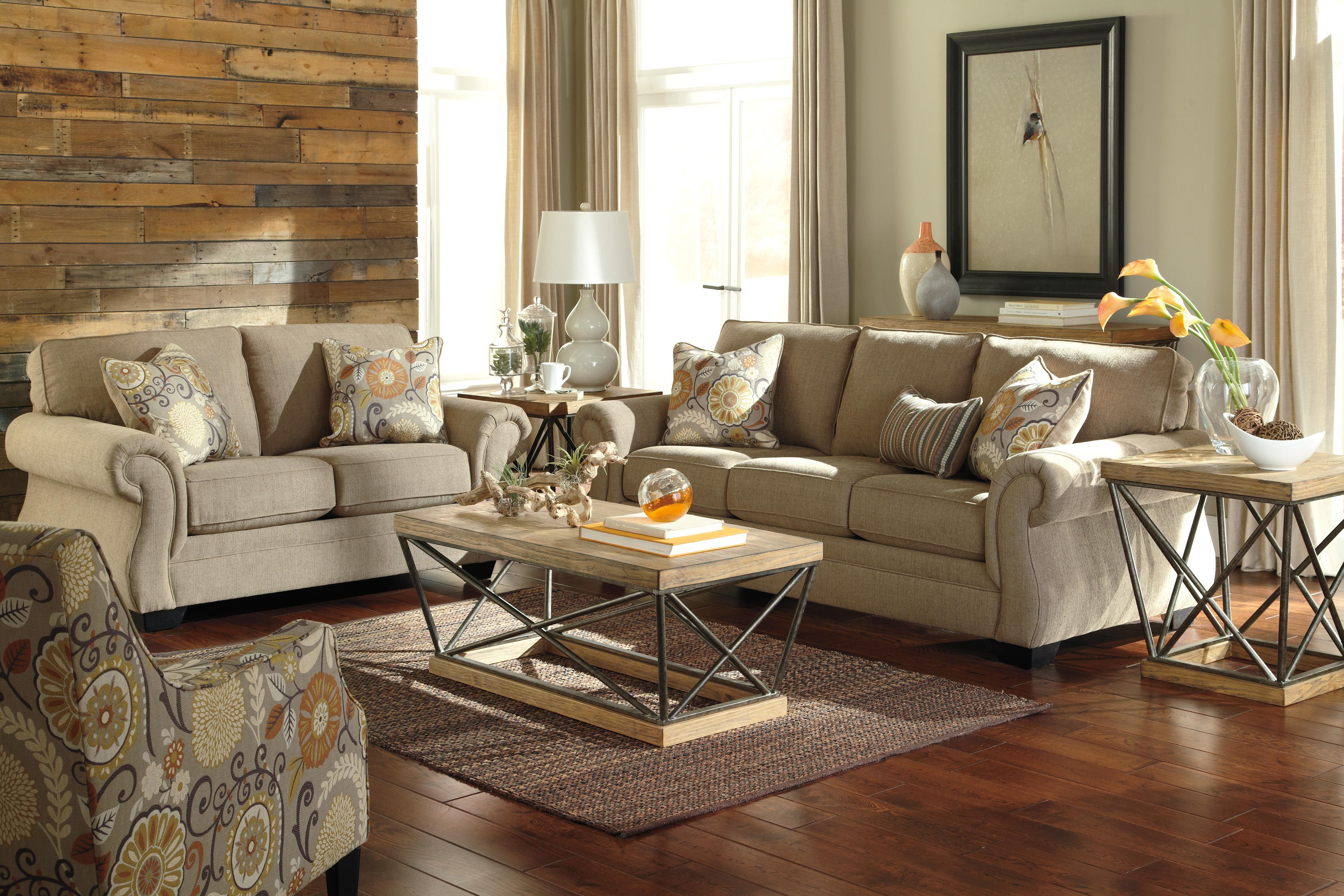 Living Room Sets With Accent Chairs Transitional Accent Chair With Floral Fabric By Benchcraft Wolf