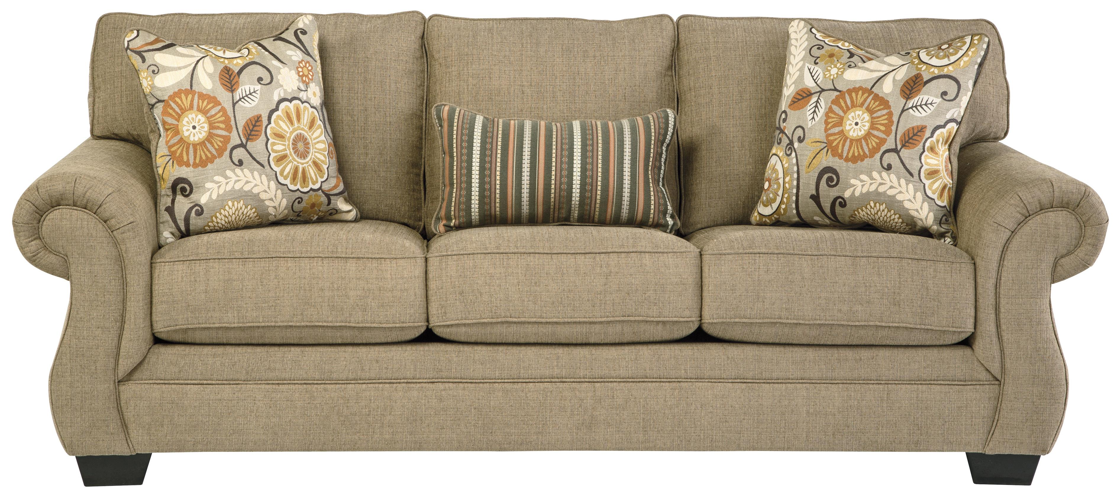 Transitional Sofa With Coil Seating By Benchcraft Wolf And Gardiner Wolf Furniture