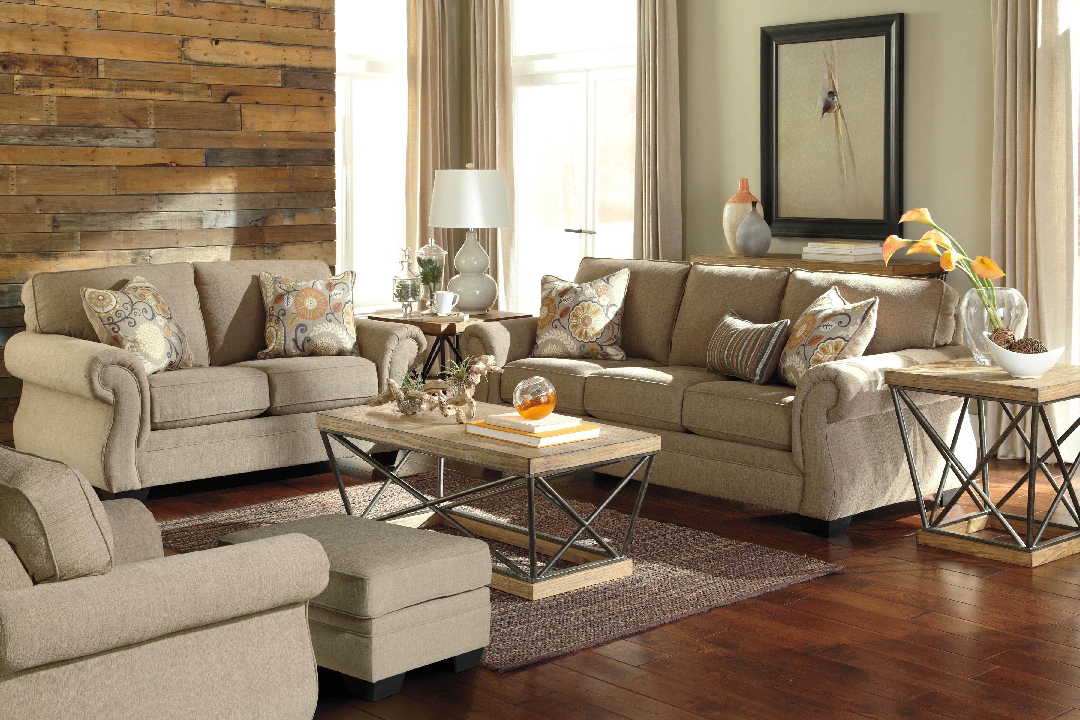 Transitional Sofa with Coil Seating by Benchcraft