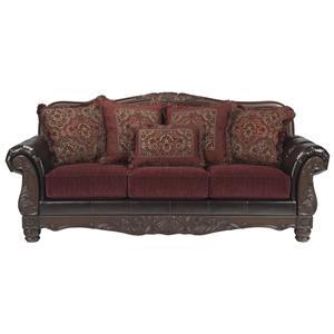 Benchcraft Weslynn Place - Burgundy Sofa