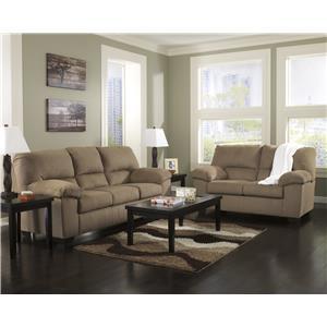 Benchcraft Zadee - Mocha Stationary Living Room Group