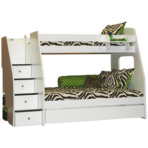 Berg Enterprise Twin Over Full Bunk With Trundle and Shelf