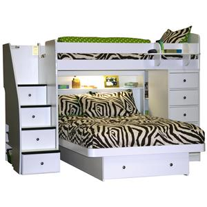 Berg Space Saver Twin Over Full Bunk Bed
