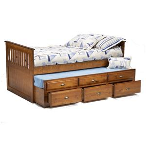 Bernards 3650 Twin Captain's Bed with Trundle & Drawers