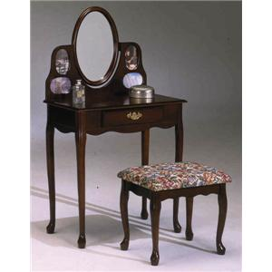 Bernards 7301 Picture Frame Vanity & Bench