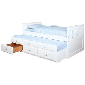 Bernards Captains Beds Captain's Bed with Trundle and Storage