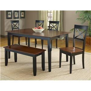 Bernards Jaguar 6-Piece Dinette Table Set with Bench