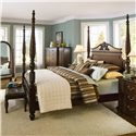 Bernhardt Belmont 2 Door Master Chest - Shown with King Poster Bed and Leather Tufted Bench