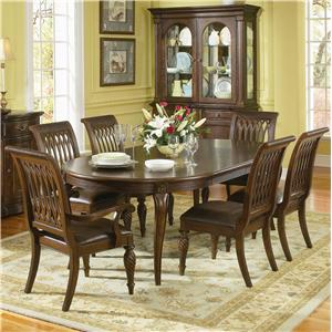 Bernhardt Belmont Arm Dining Chair with Leather Upholstered Seat ...