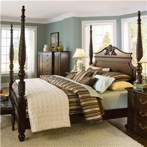 Bernhardt Belmont King-Size Poster Bed with Carved Post & Headboard ...