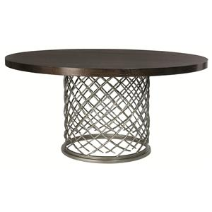 "Bernhardt Hallam Hallam Metal Table with Wood Top (60"")"