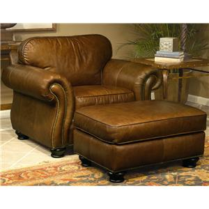 Bernhardt Vincent Chair and Ottoman