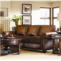 Bernhardt Vincent Leather Sleeper Sofa - The Leather Shown has been Discontinued, but More Upholstery Options are Available.
