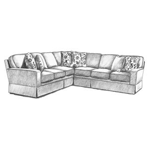 Rowe nantucket slipcover sofa with chaise hudson 39 s for Annabelle chaise
