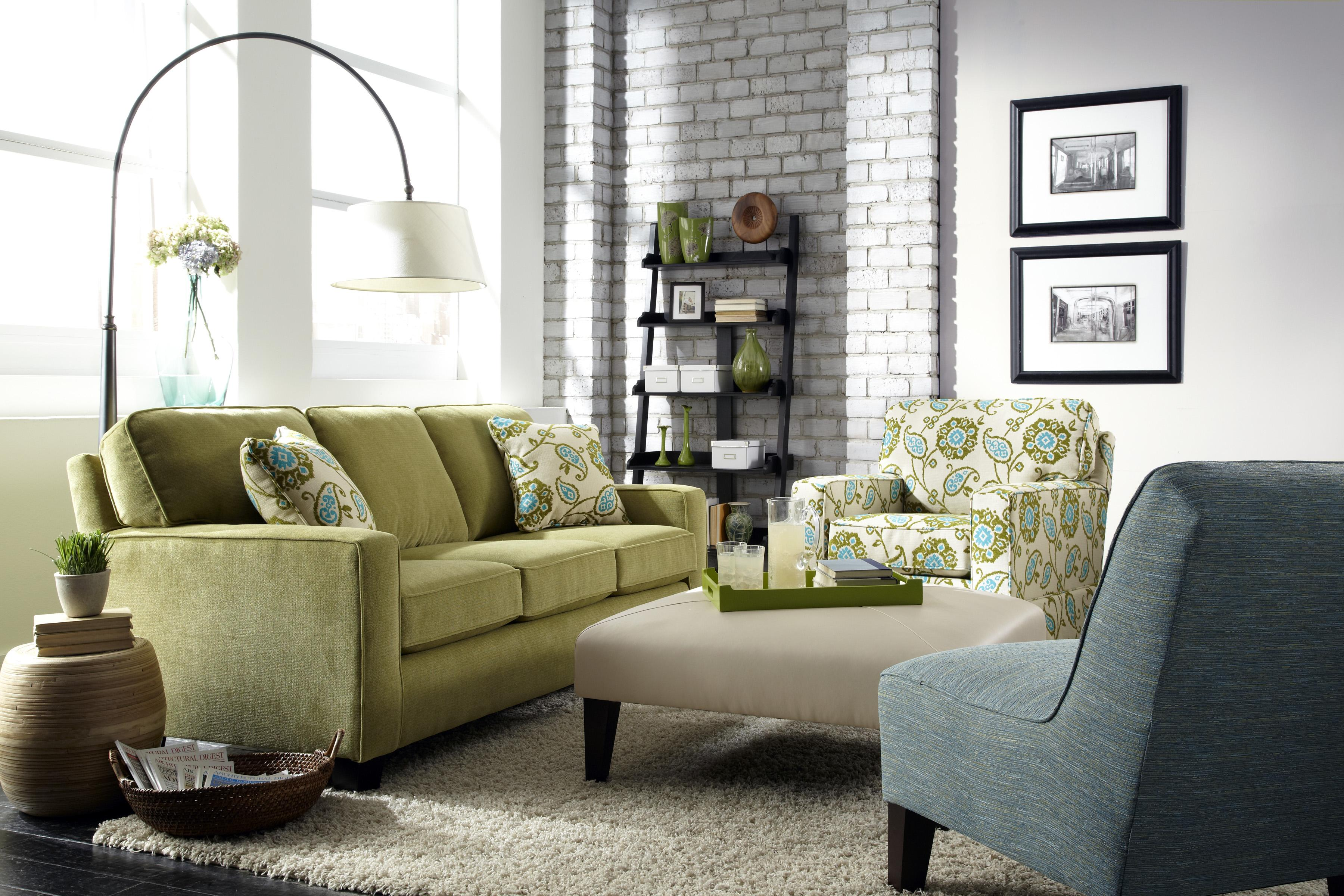 b Customizable b Contemporary Sofa with Track Arms and Tapered