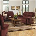 Best Home Furnishings Ares Reclining Sofa - Shown in Living Room with Matching Loveseat
