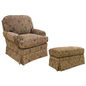 Best Home Furnishings Chairs - Accent Uphosltered Chair with Ottoman