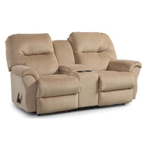 Best Home Furnishings Bodie Rocking Reclining Loveseat w/ Console