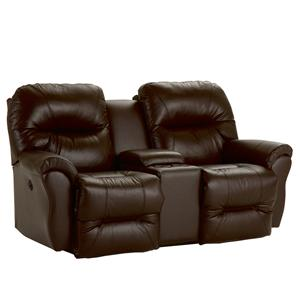Best Home Furnishings Bodie Power Rocking Reclining Loveseat w/ Console