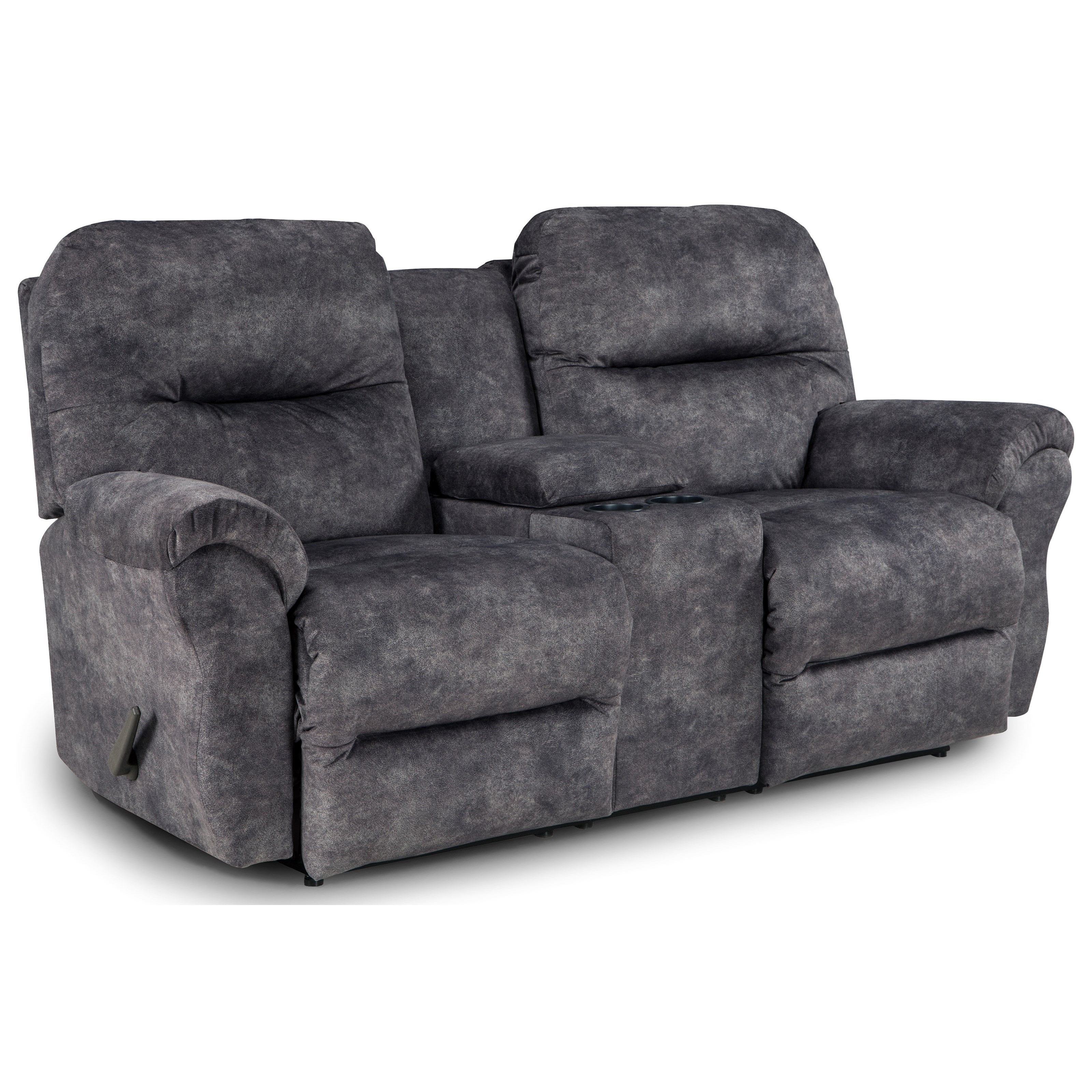 Power Rocking Reclining Loveseat With Storage Console By