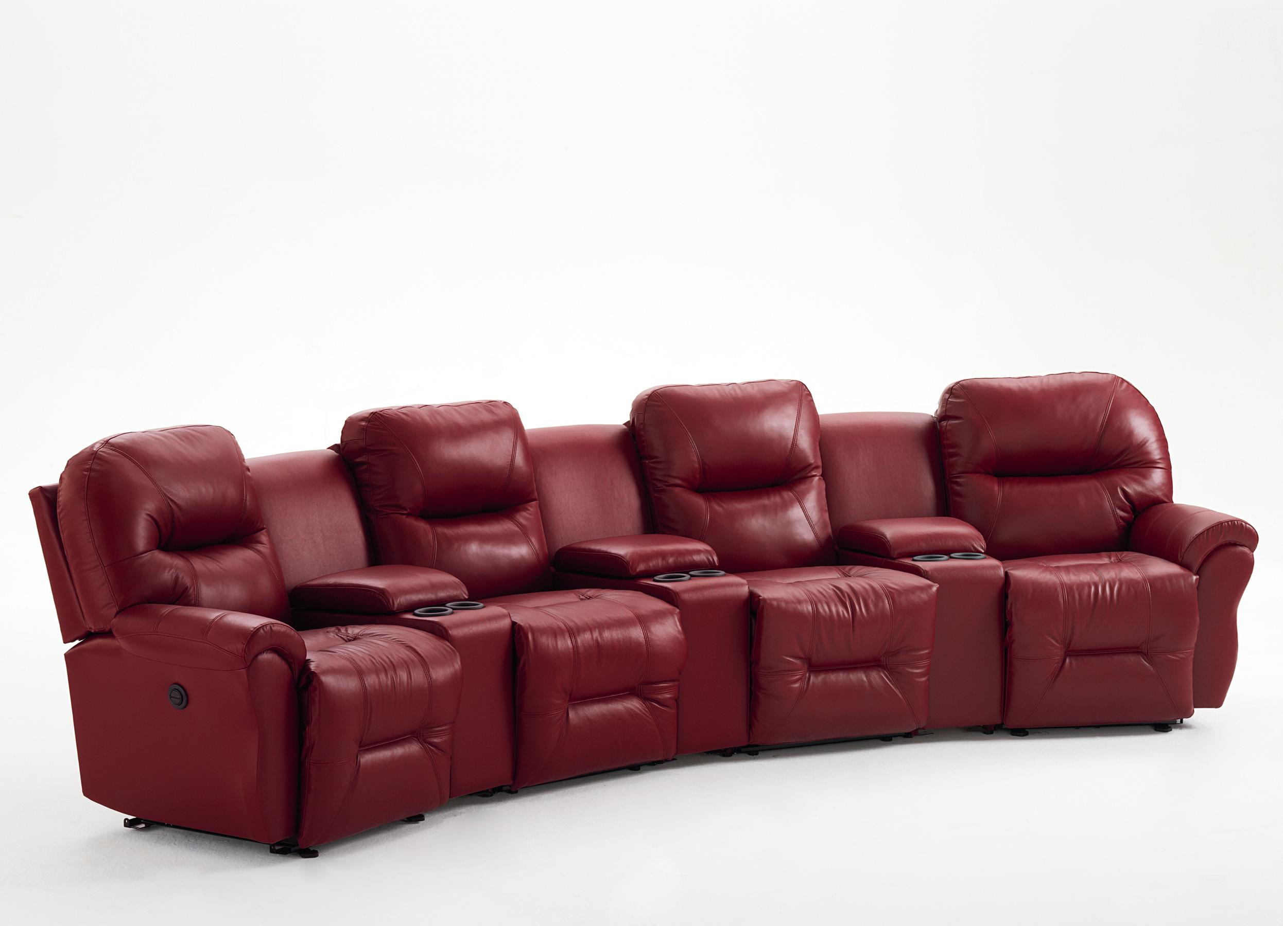 4-Seater Power Reclining Home Theater Group : home theater power recliner - islam-shia.org