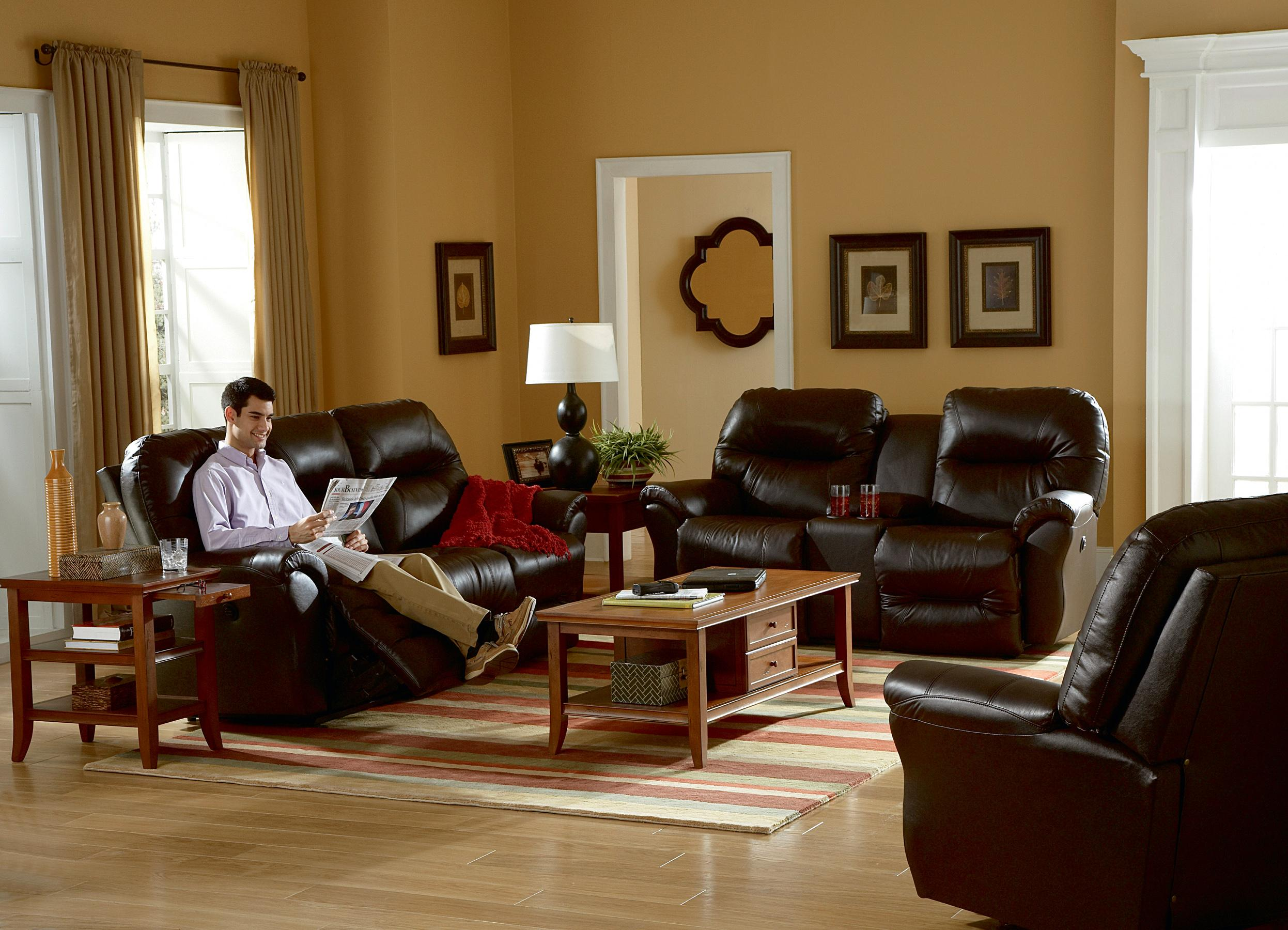 Reclining Sofa Chaise by Best Home Furnishings