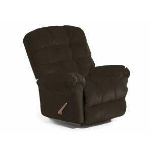 Best Home Furnishings Recliners - BodyRest Chocoate BodyRest Rocker Recliner