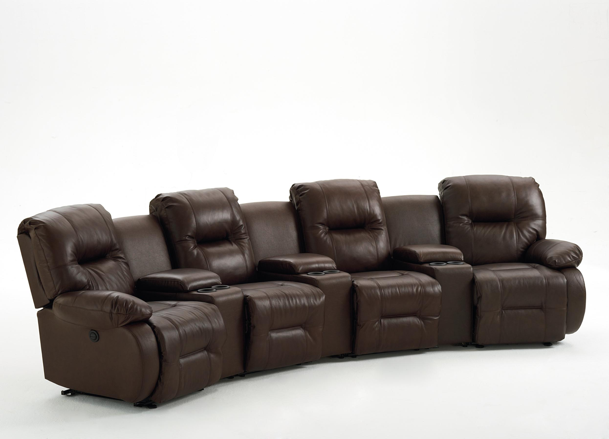 7 Pc Power Reclining Home Theater Group