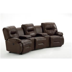 Best Home Furnishings Brinley 2 5 Pc Reclining Home Theater Group