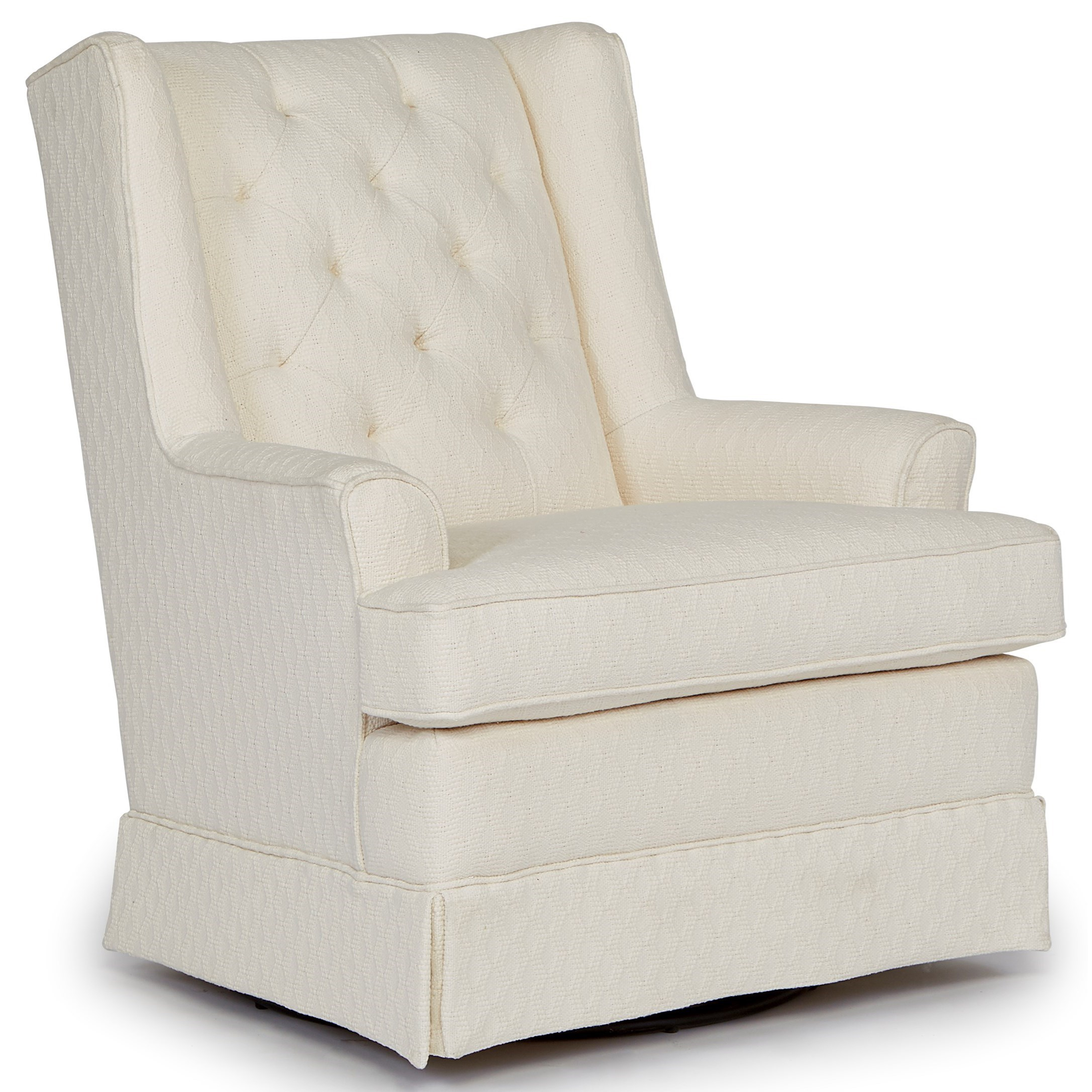 Nikole Skirted Swivel Glider by Best Home Furnishings | Wolf and ...
