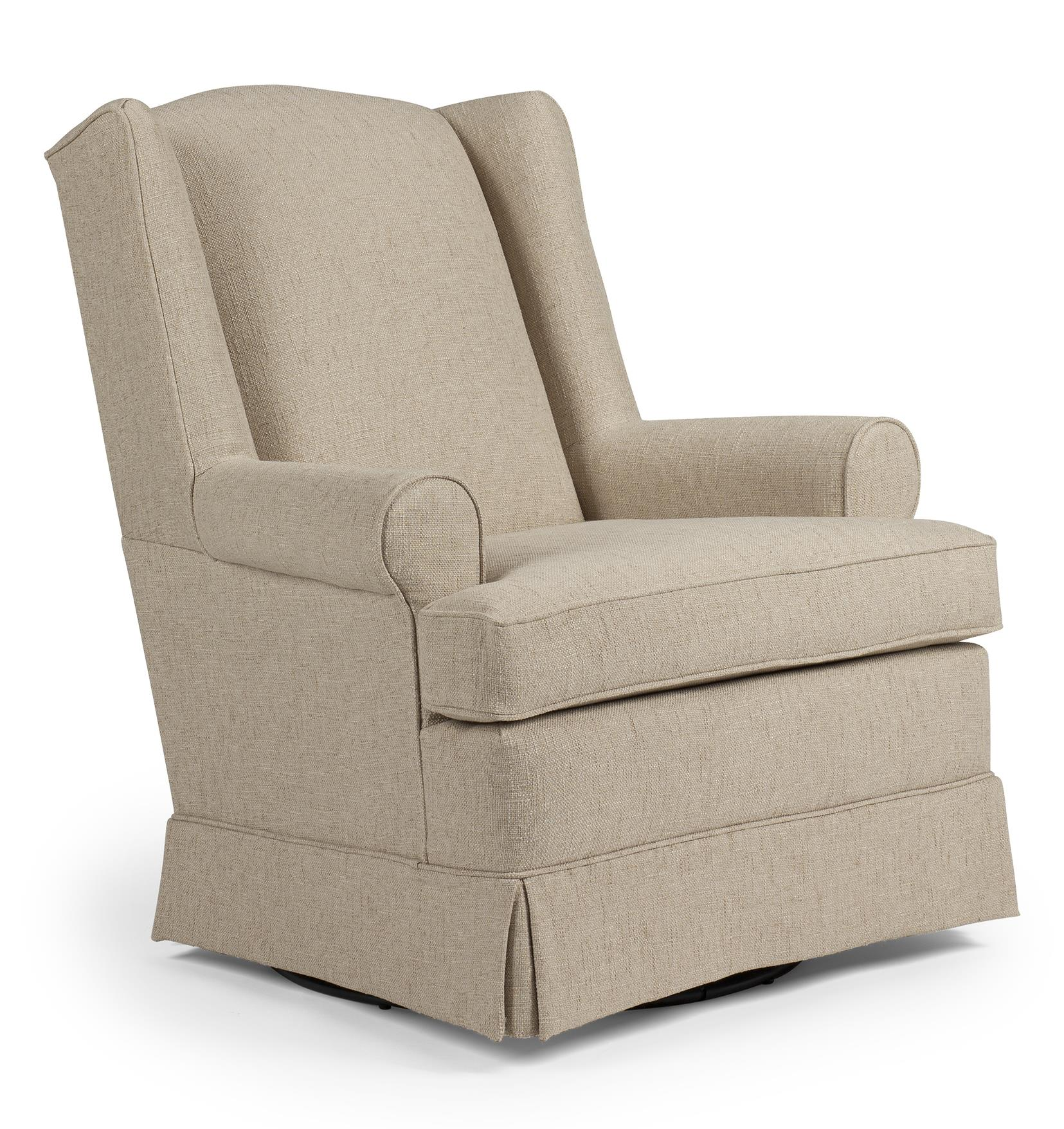 Roni Skirted Swivel Glider Chair by Best Home Furnishings | Wolf and ...