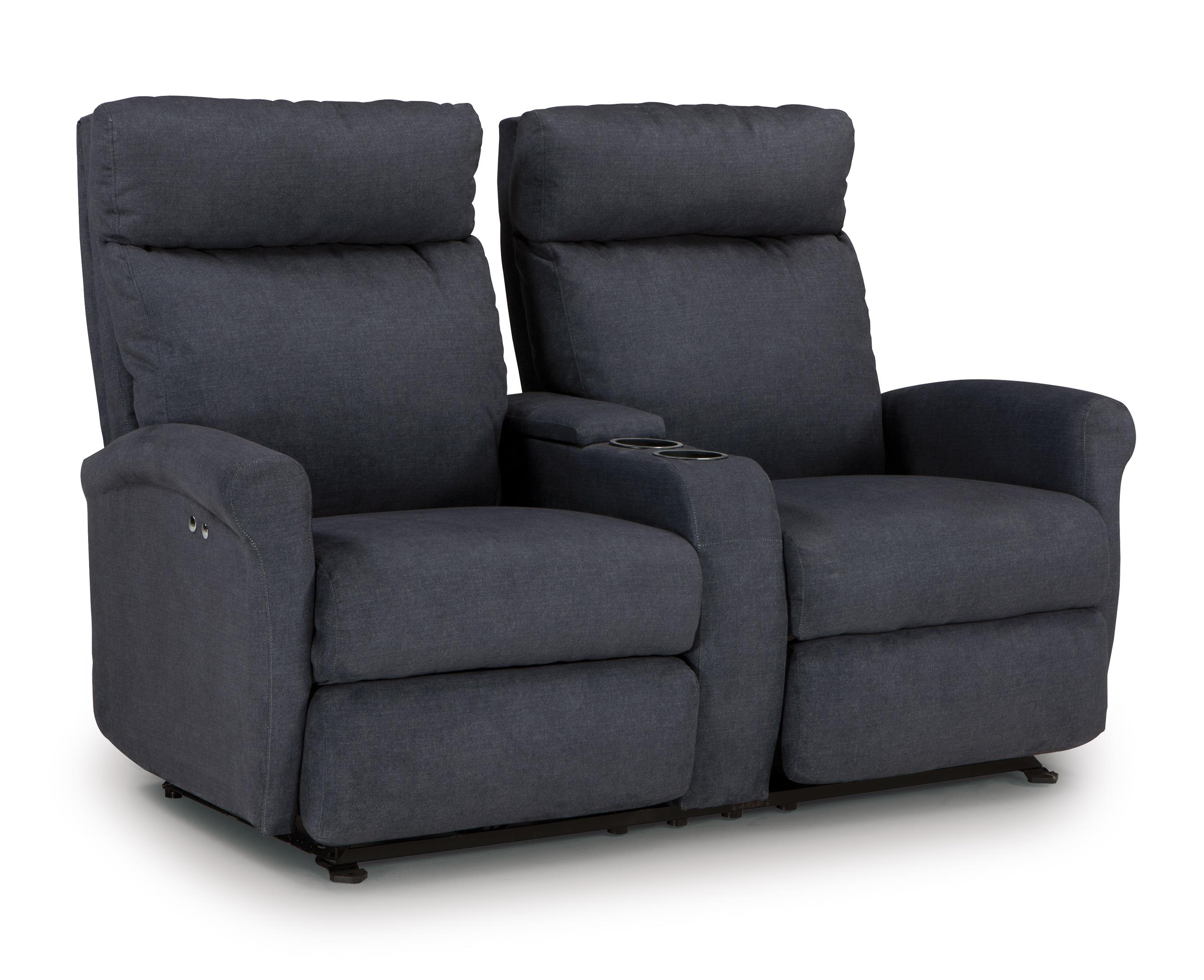 Power Space Saver Reclining Loveseat with Storage Console and Cupholders