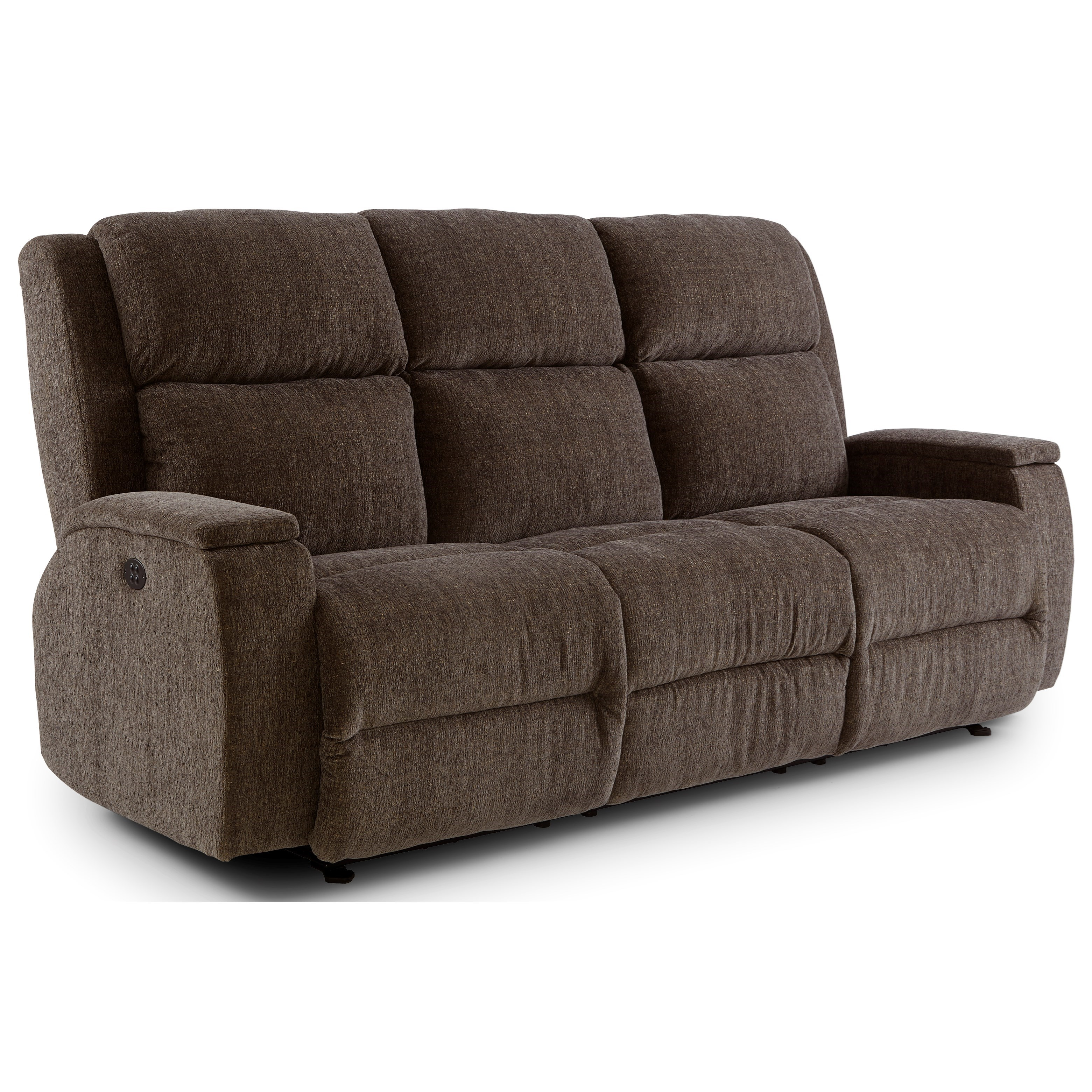 Power Space Saver Reclining Sofa With Power Tilt Headrest