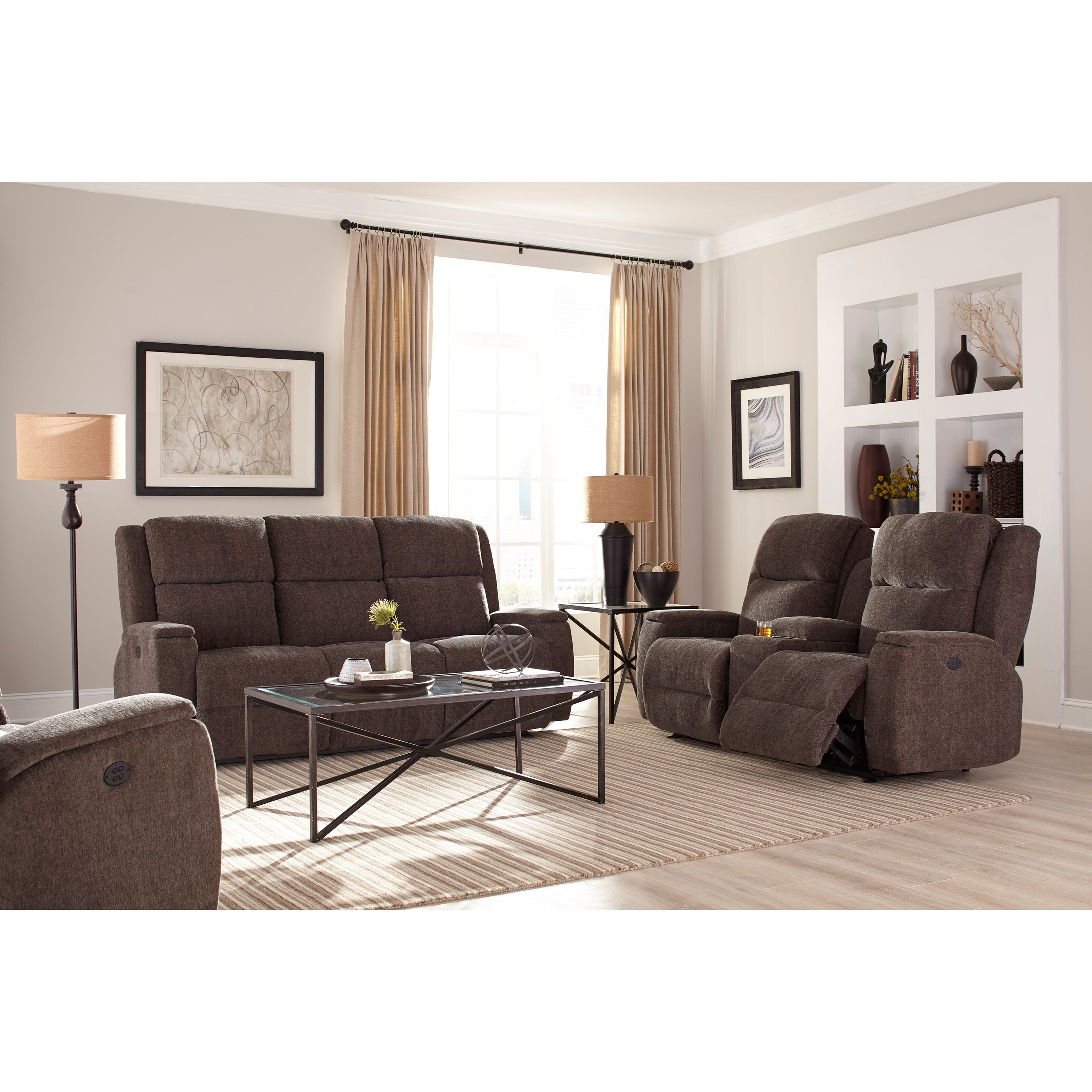 Power Walhugger Recl Sofa W/ Pwr Headrest