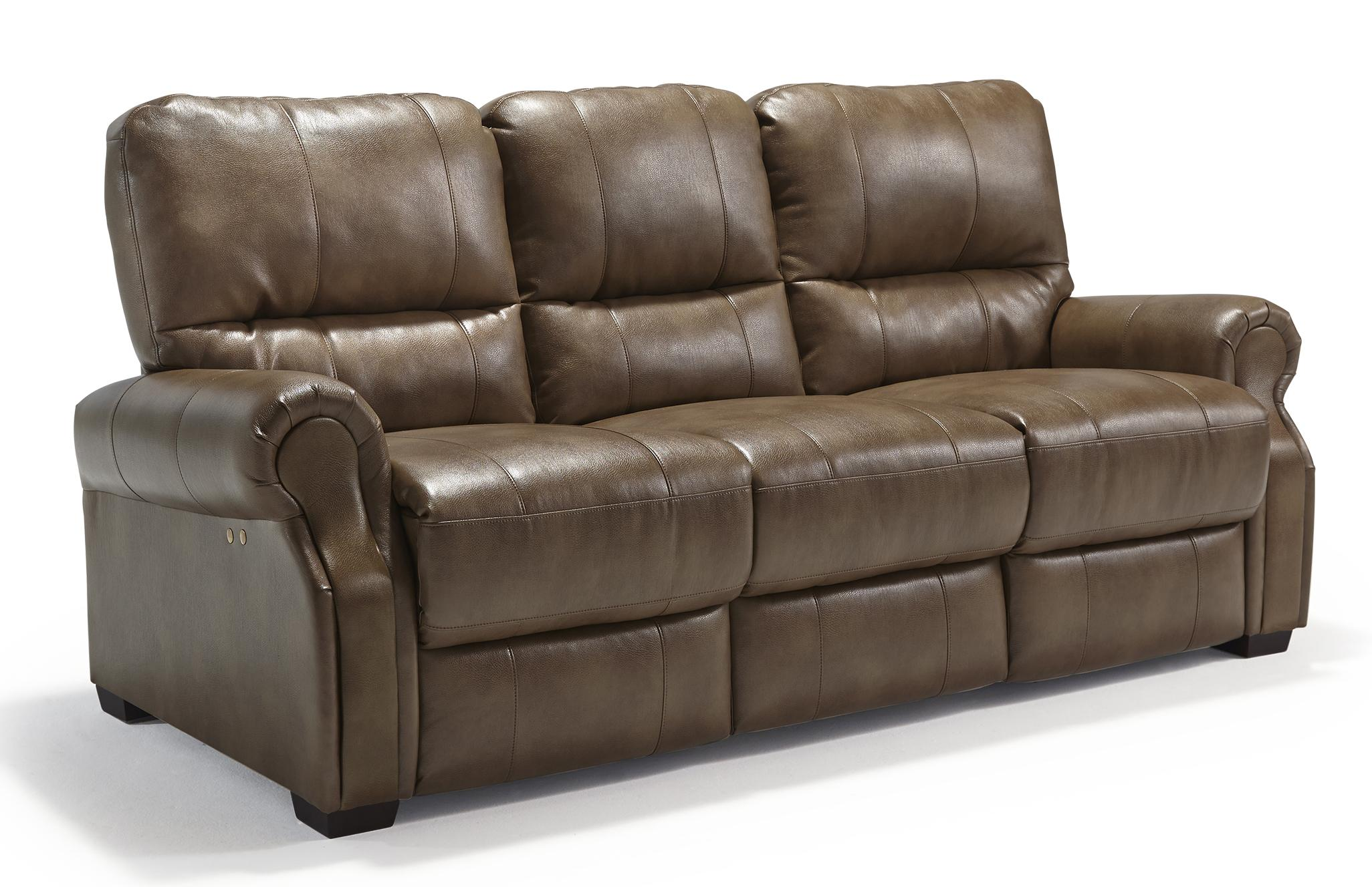Transitional Power Reclining Sofa with High Legs by Best Home