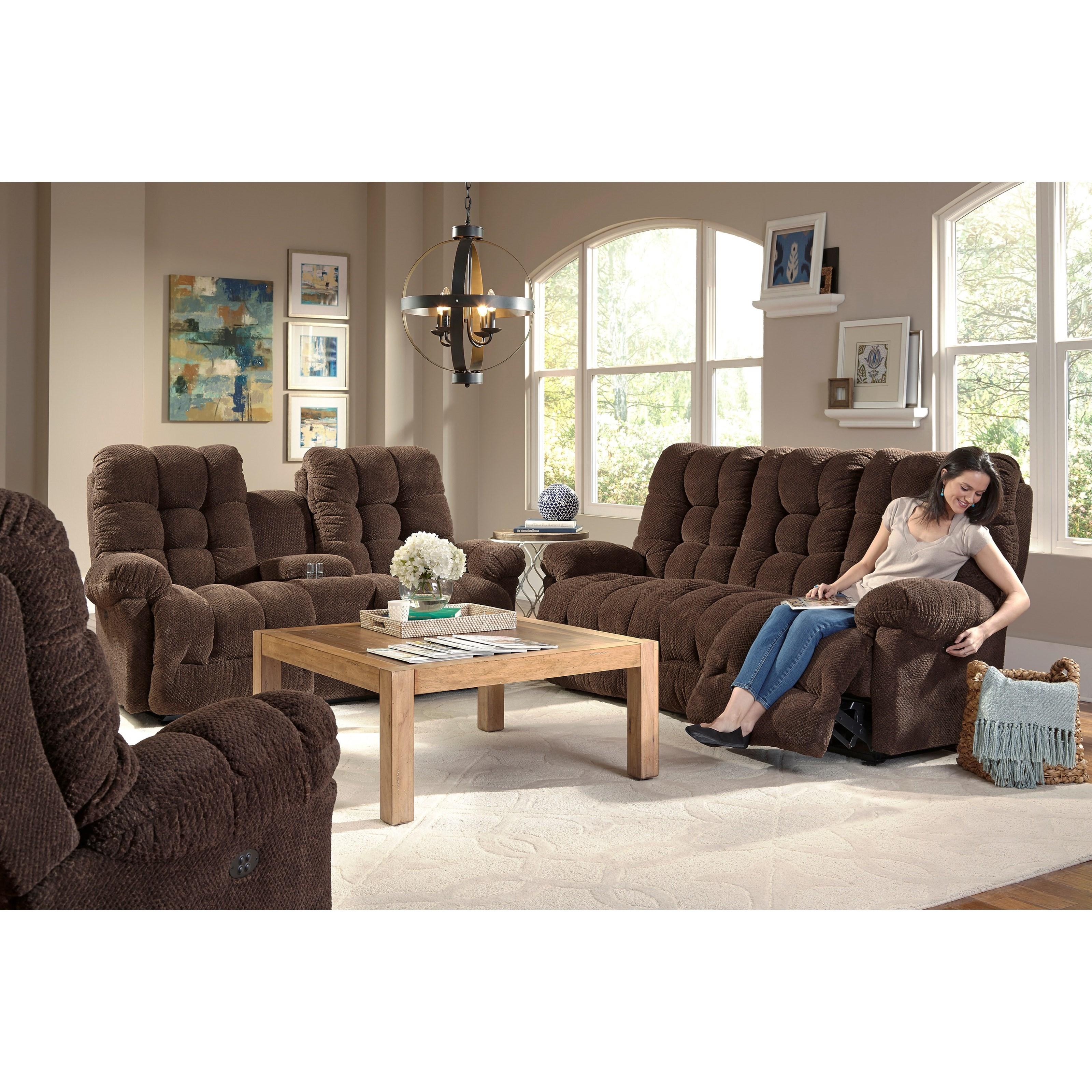 Power Space Saver Sofa with Power Tilt Headrest