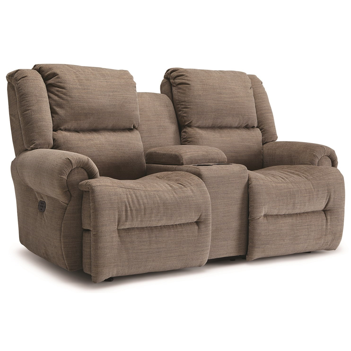 Power Rocking Reclining Loveseat With Cupholder Storage