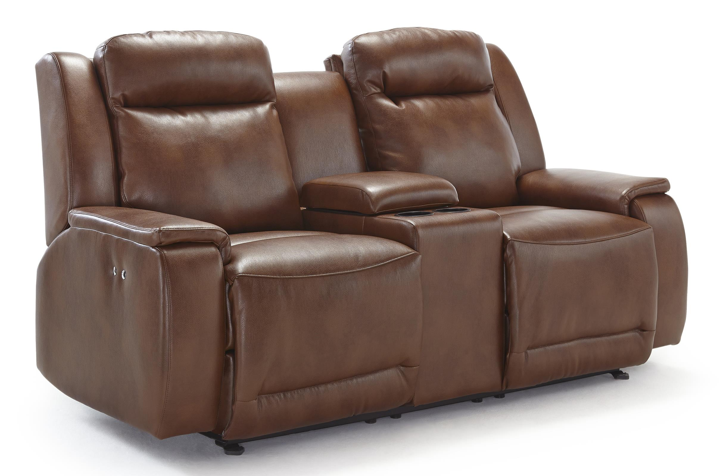 Rocking Loveseat With Console ~ Power rocking reclining loveseat with cupholder and